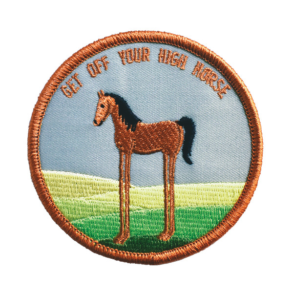 High Horse Embroidered Patch
