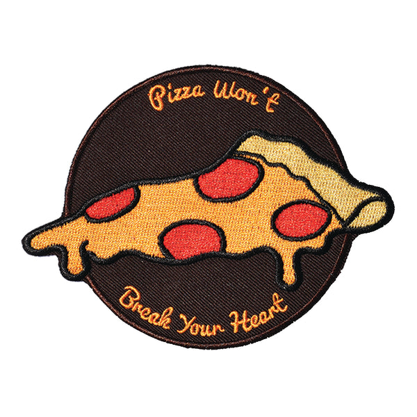 Pizza Won't Break Your Heart Embroidered Patch