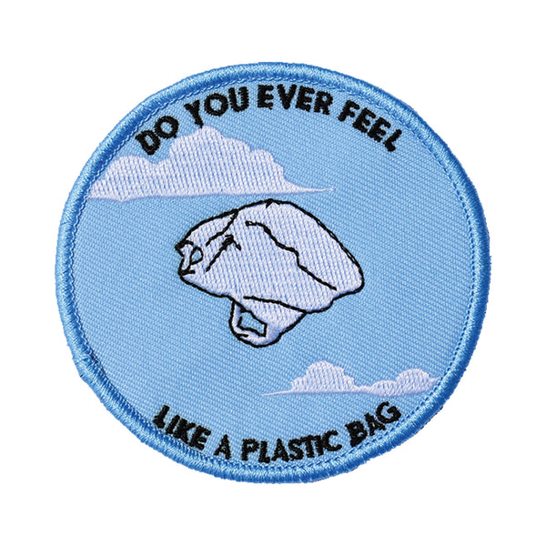 Plastic Bag Embroidered Patch