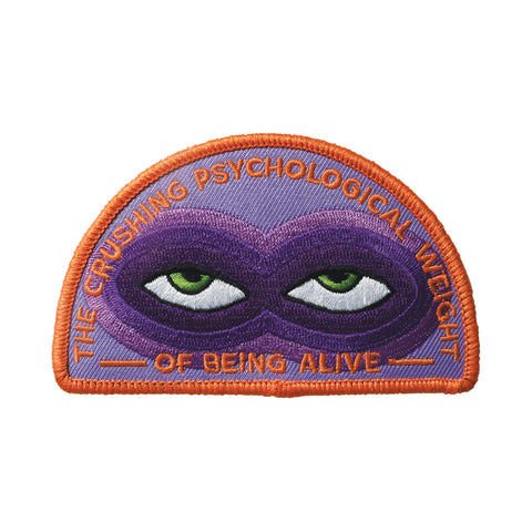 Crushing Psychological Weight Embroidered Patch