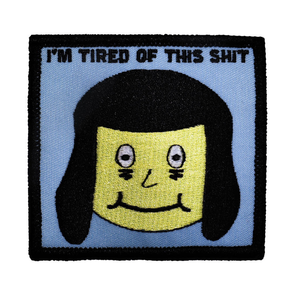 Tired Embroidered Patch