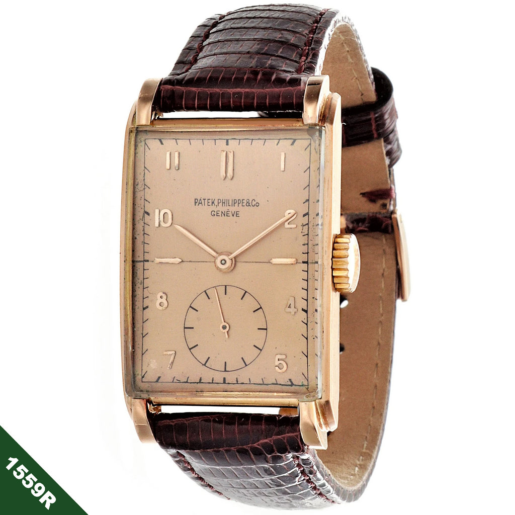Patek Philippe 1559R, Rose Gold Original Certificate Not Polished, Circa 1947