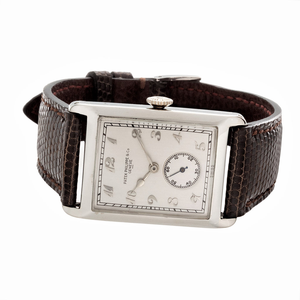 Patek Philippe Early Hinged White Gold Art Deco Watch Circa 1926