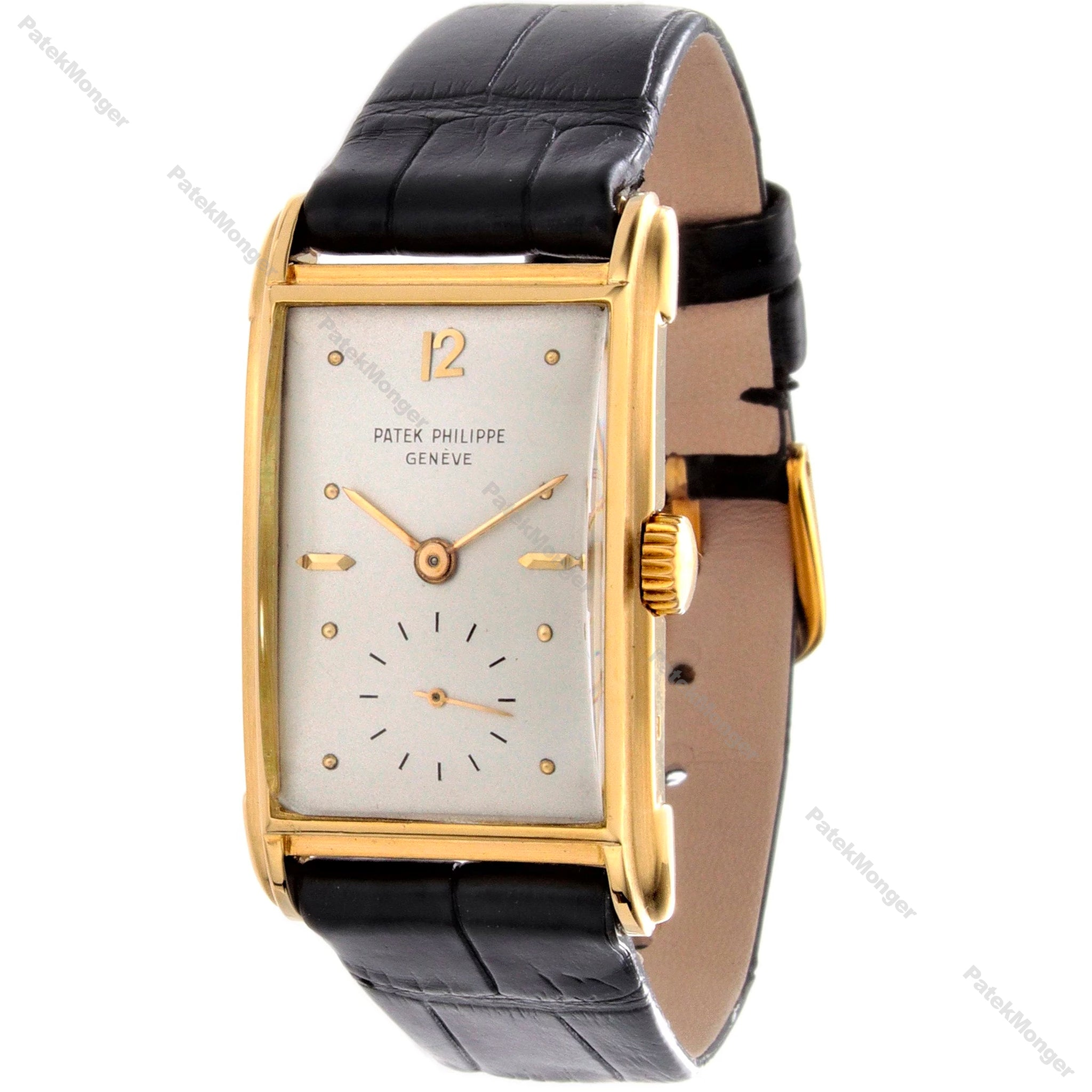 Patek Philippe 2417J Curved Domed Rectangular Watch