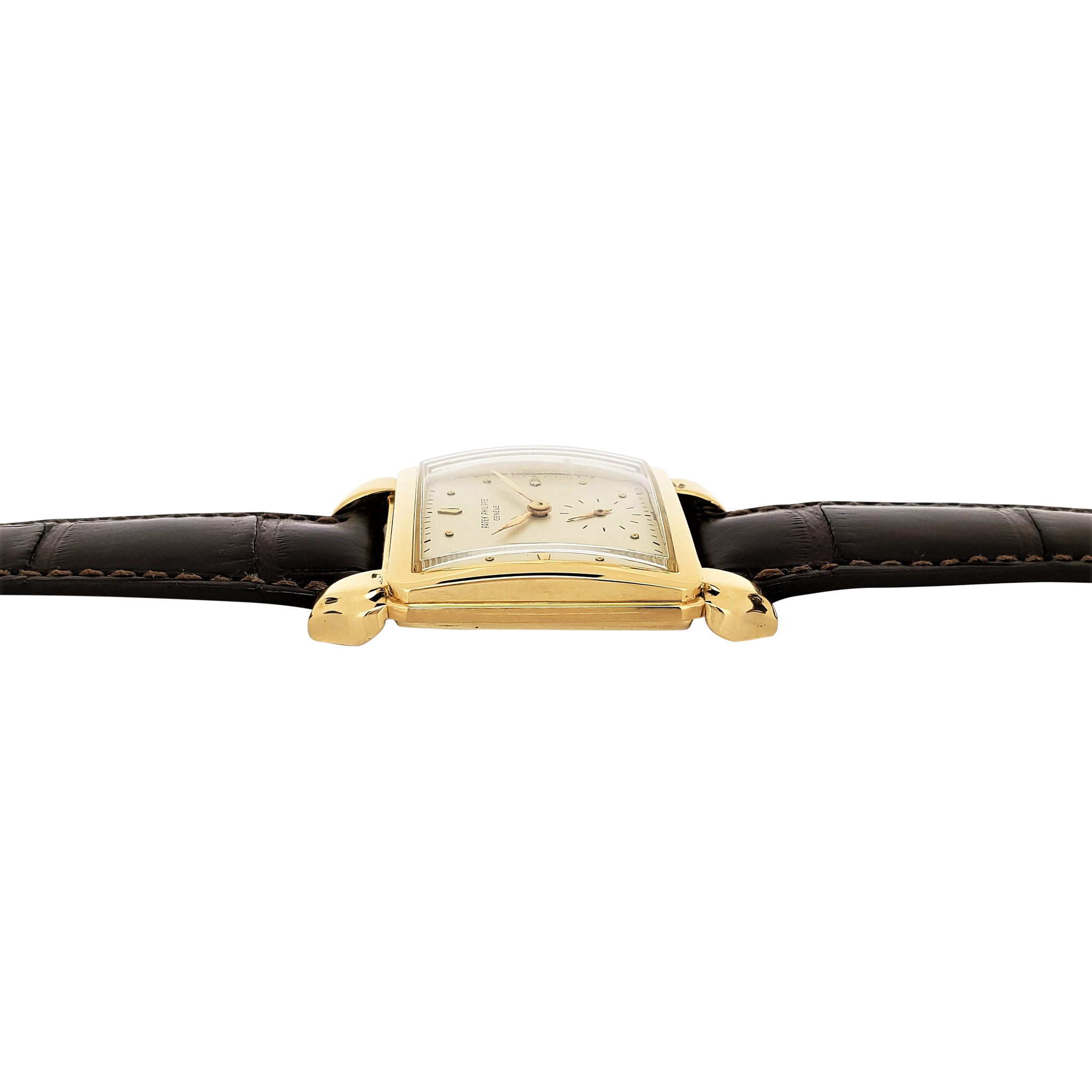 "Patek Philippe 2424J Jumbo Square ""Flame"" Lugs Watch"