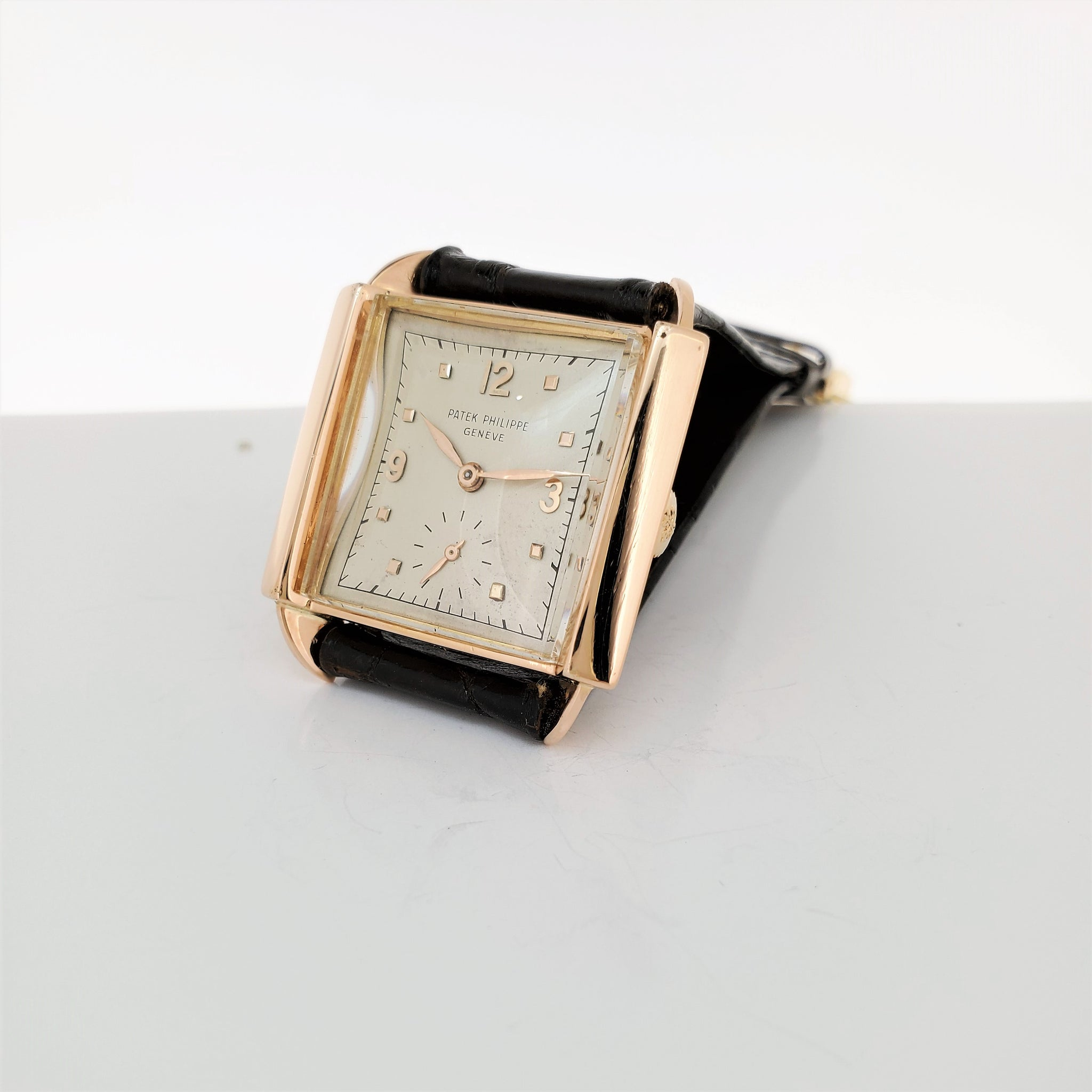 "Patek Philippe 2425R ""Skater"" Rare Rose Gold Watch circa 1947"
