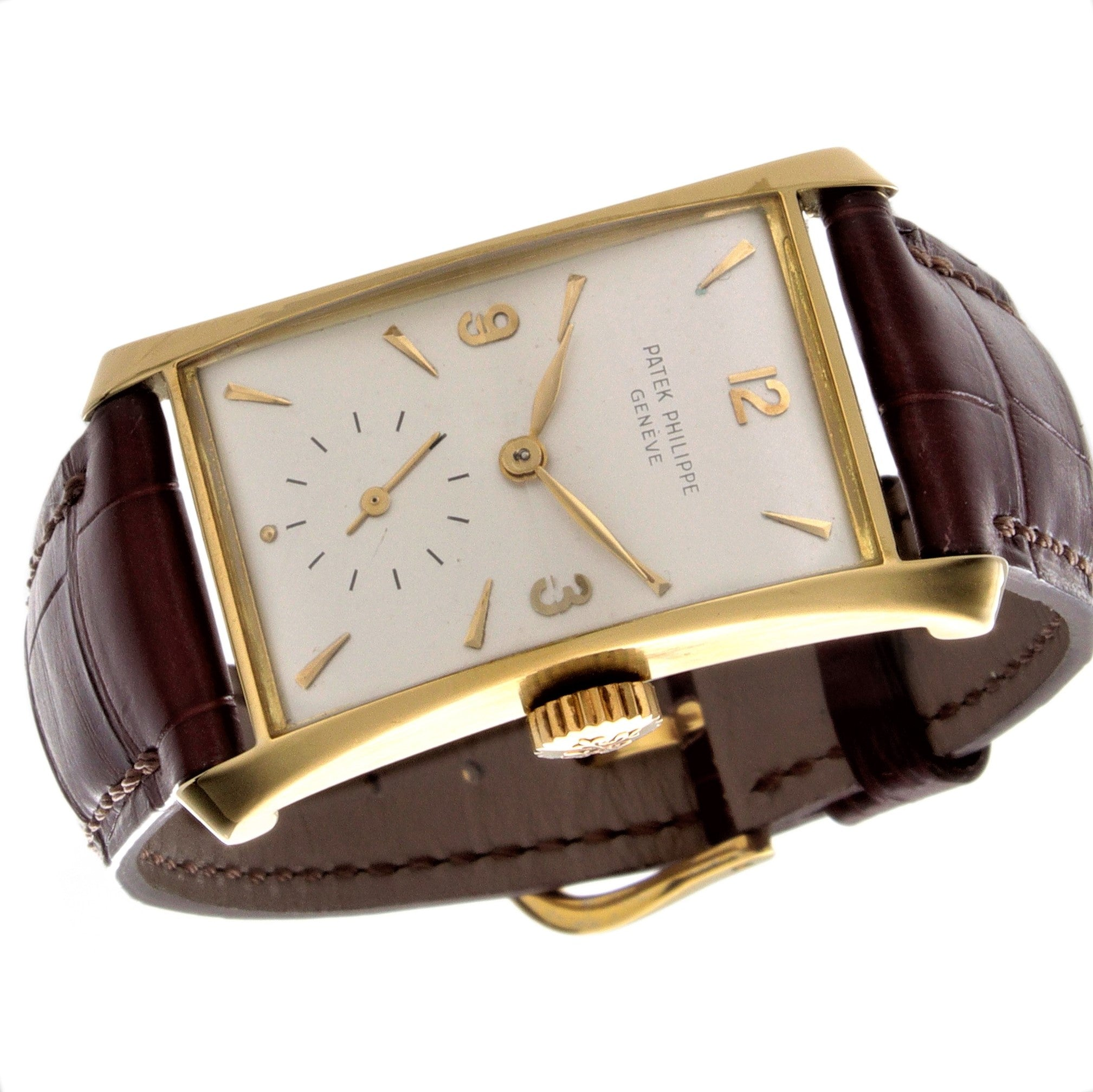 "Patek Philippe 2468J Vintage ""Hour Glass"" Shape Watch Circa 1955"