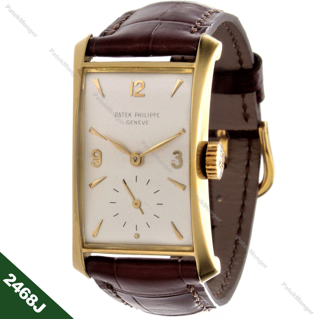 "Patek Philippe 2468J ""Hour Glass"" Watch circa 1955"