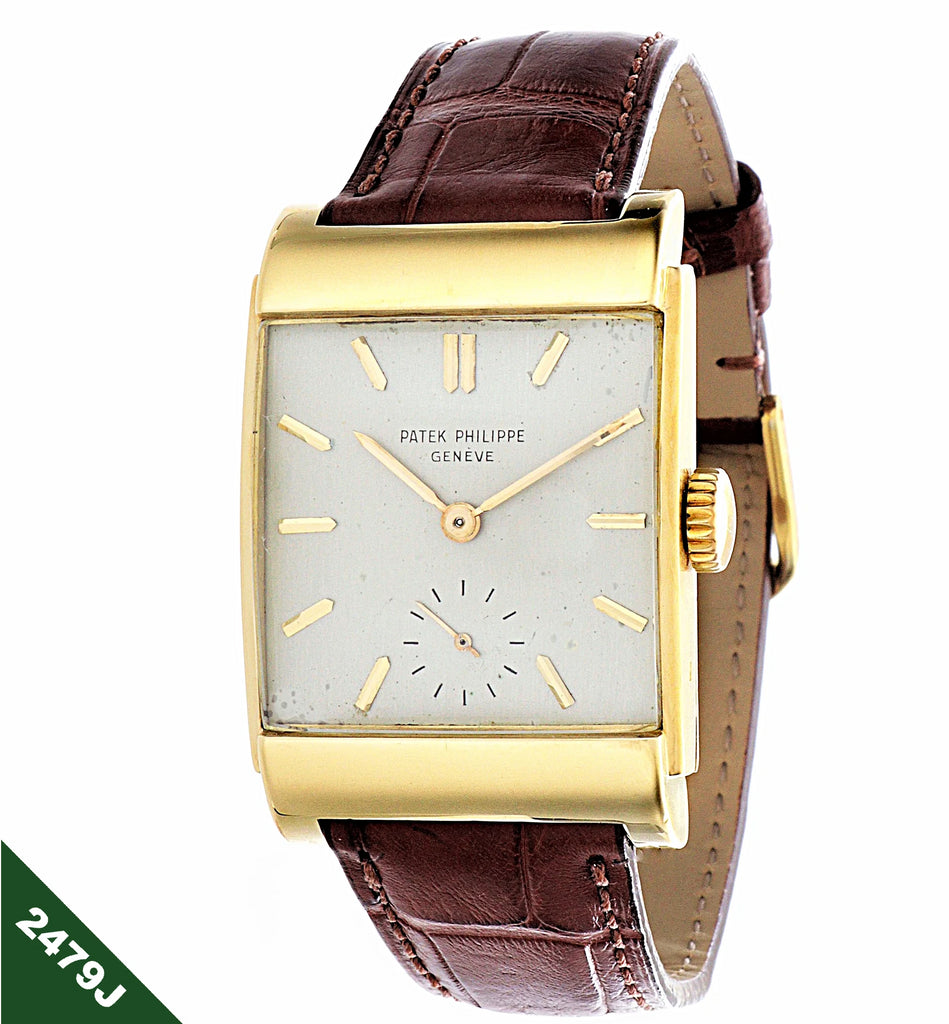 Patek Philippe 2479J Curved Domed Rectangular watch,with Stepped Case, Circa 1950