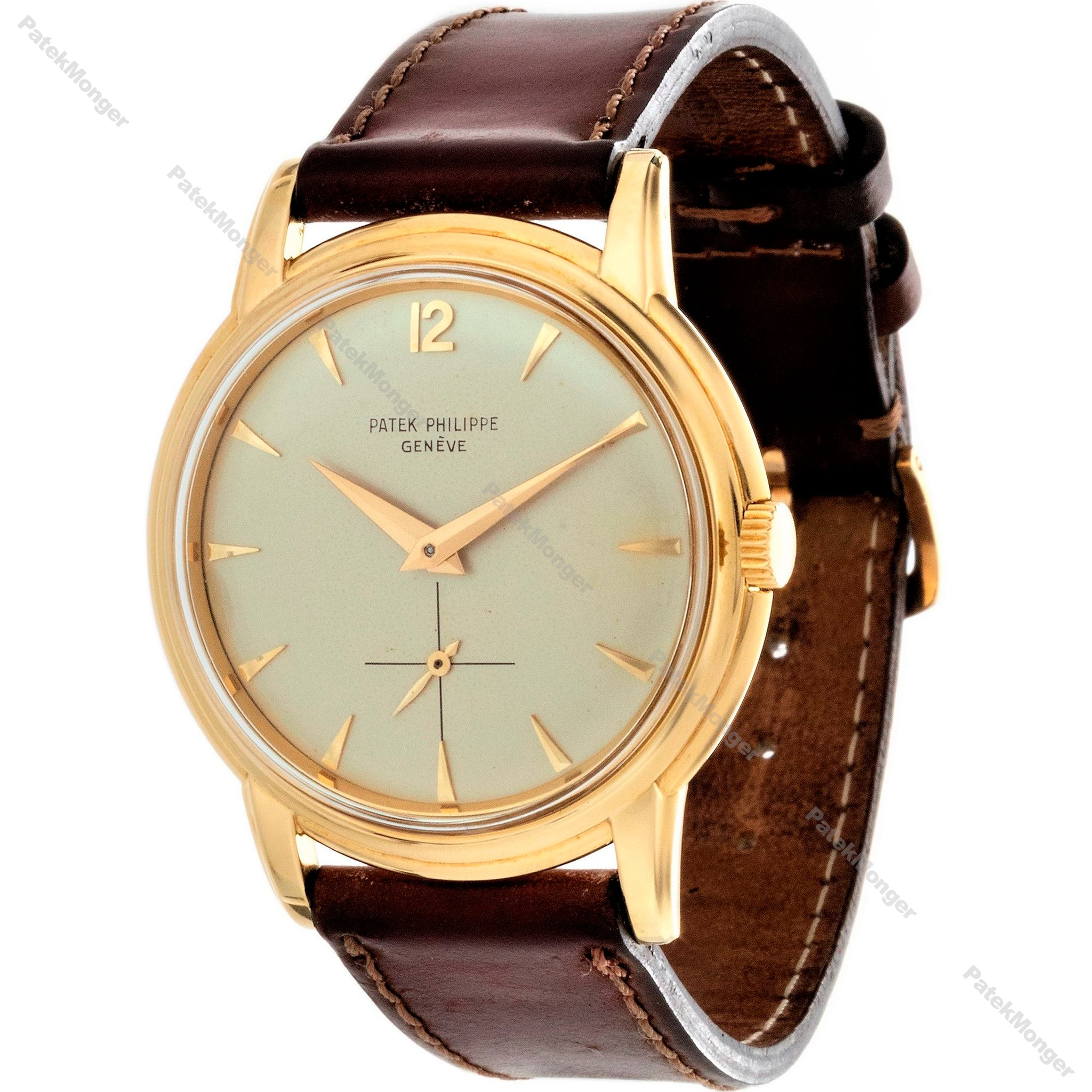 Patek Philippe 2525J 18K Gold Vintage Calatrava water risistant case, Watch Circa 1957