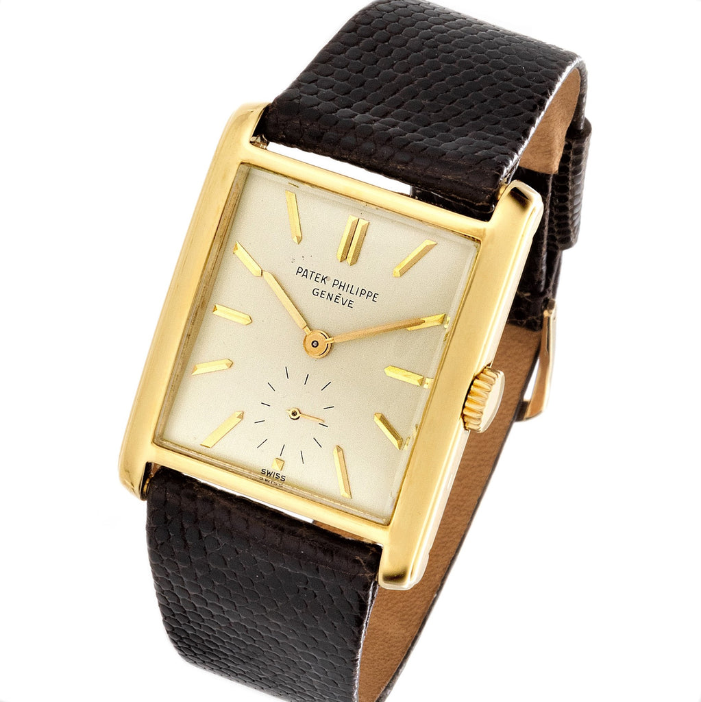 Patek Philippe 2530J Vintage Rectangular Tank Style Watch Circa 1952