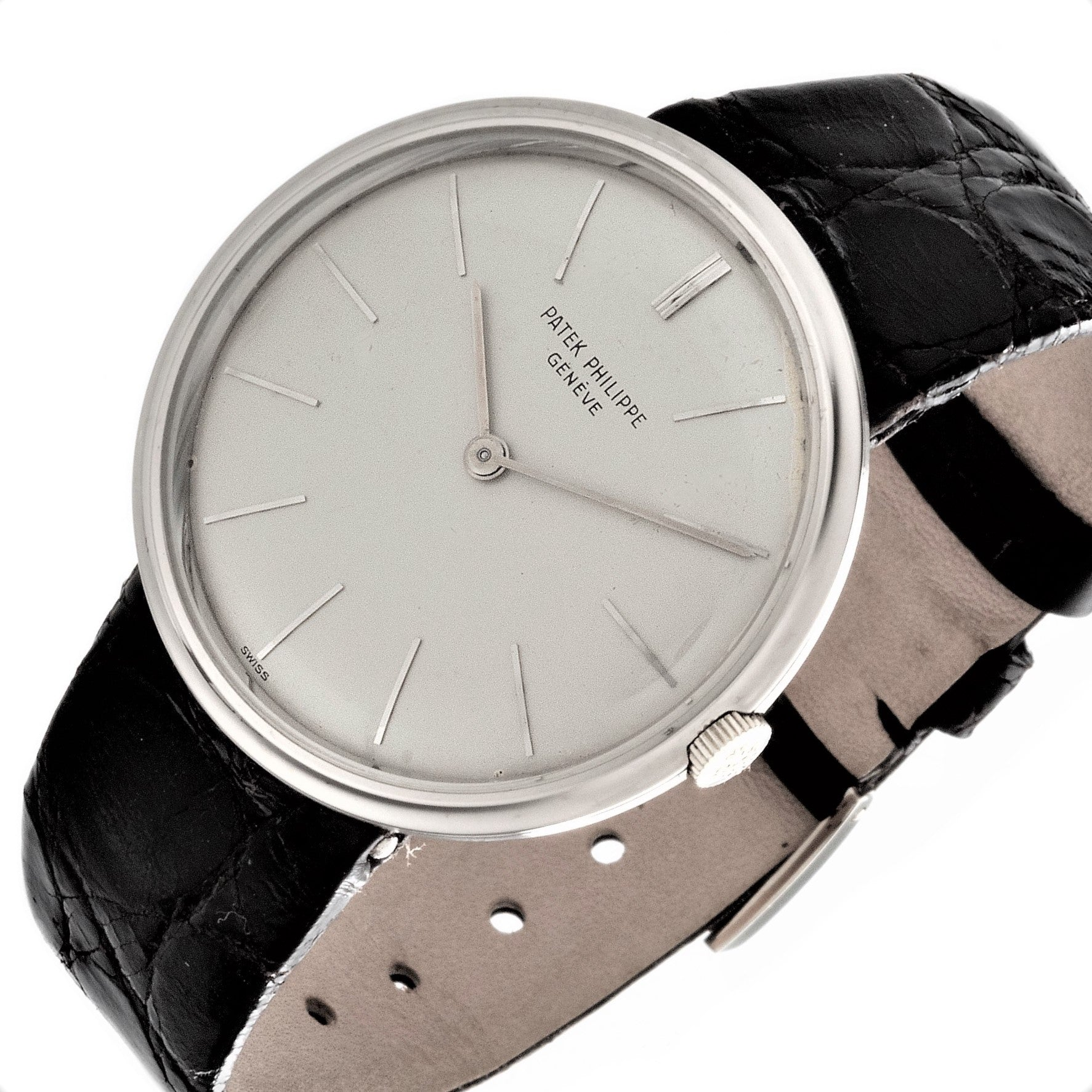 Patek Philippe 2591G White Gold Calatrava Watch.  Circa 1965