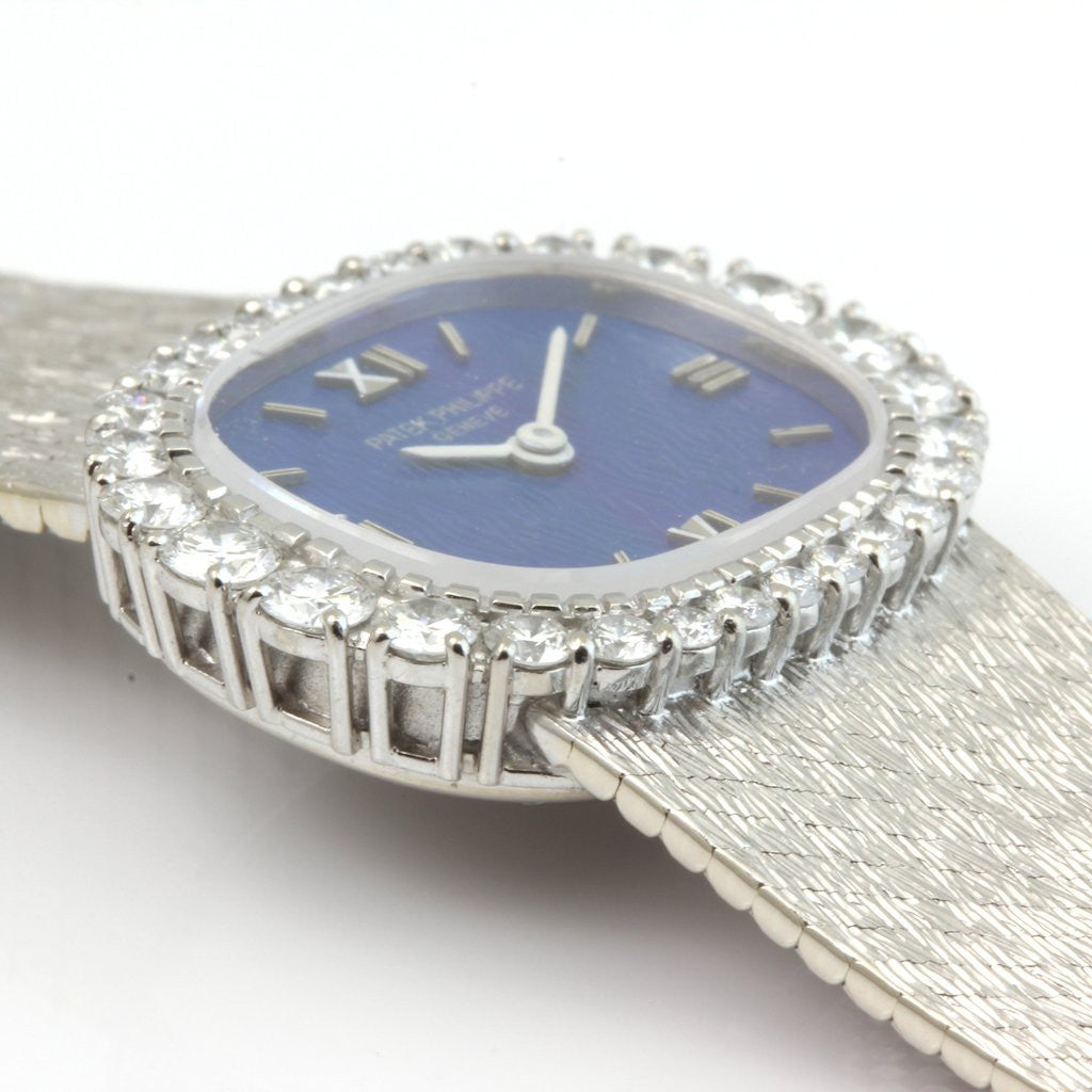 Patek Philippe 3394/1G Manual Mechanical Ladies Diamond Watch