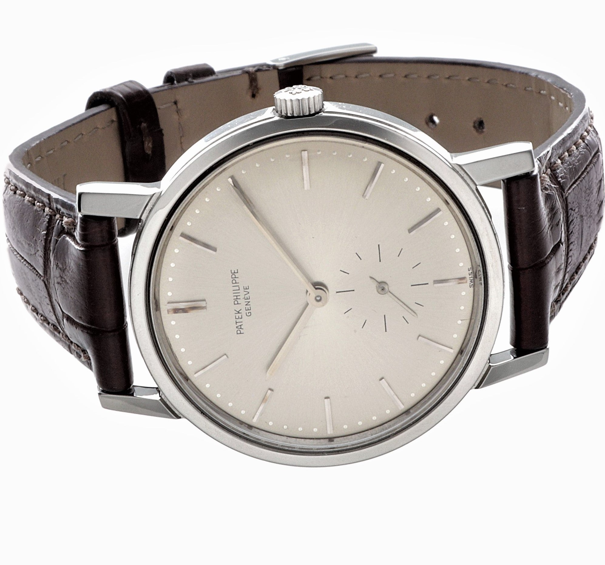Patek Philippe 3466A Stainless Steel Automatic Water Resistant Calatrava, Circa 1967