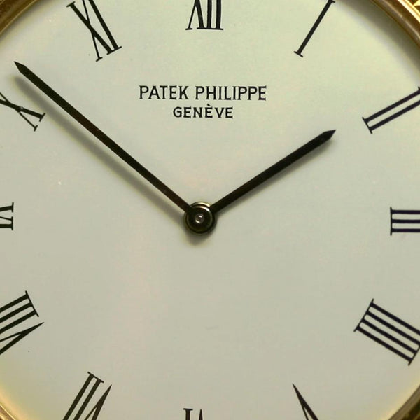 Patek 3520D 32 mm Extra Thin Water Resistant Calatrava Screw Down Case Back. 1988