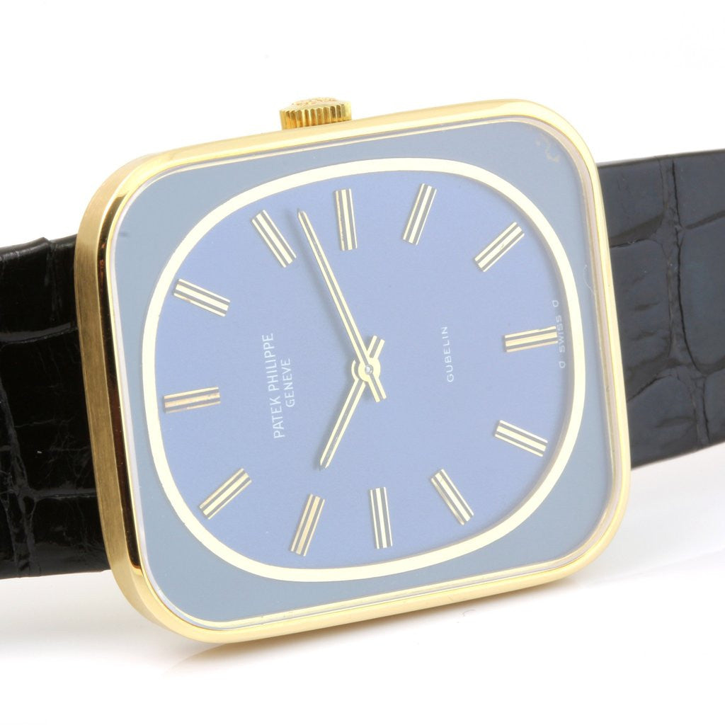 Patek Philippe 3582J Blue Dial Gondolo Watch.  Circa 1973