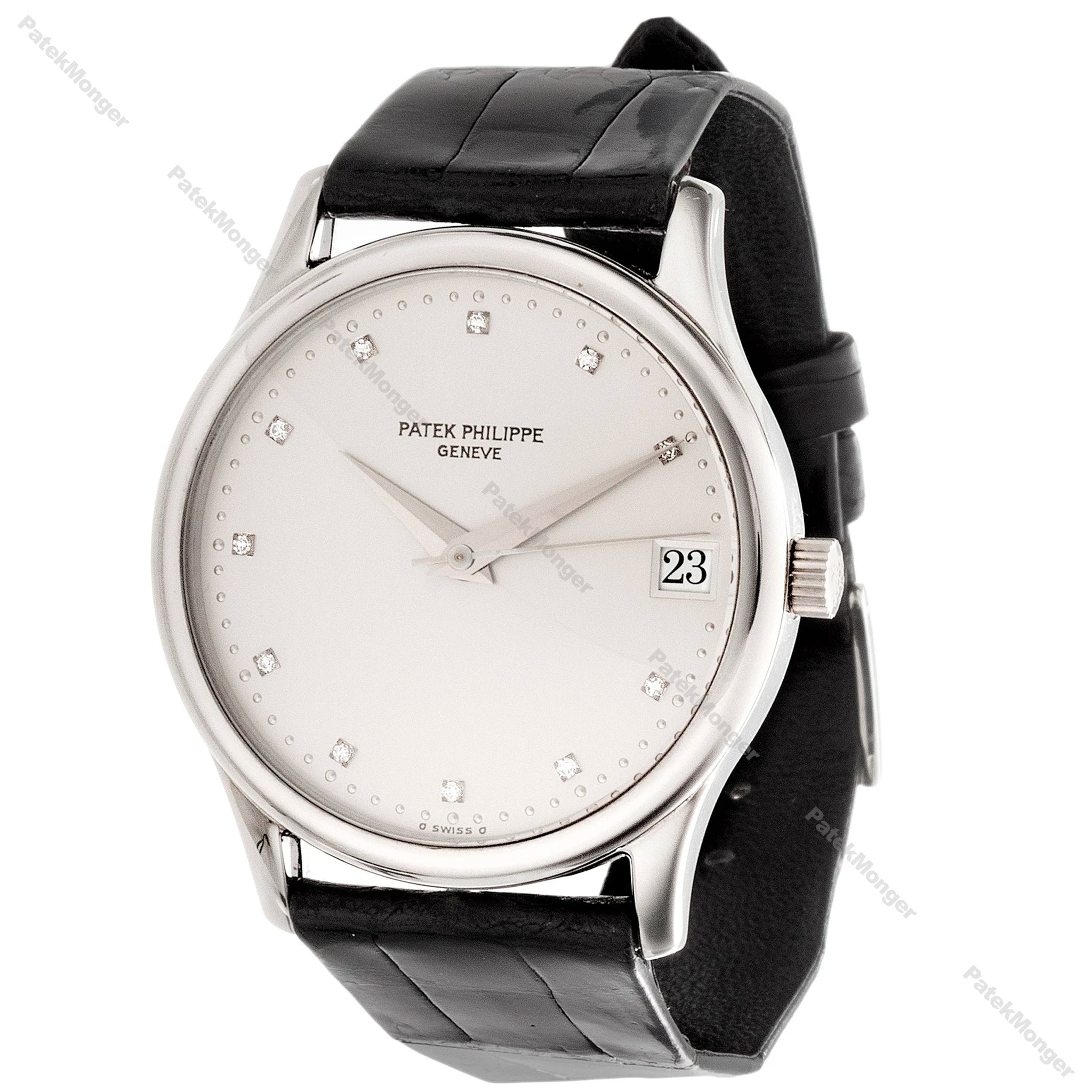 Patek Philippe 3998P Automatic Calatrava Diamond Dial Watch