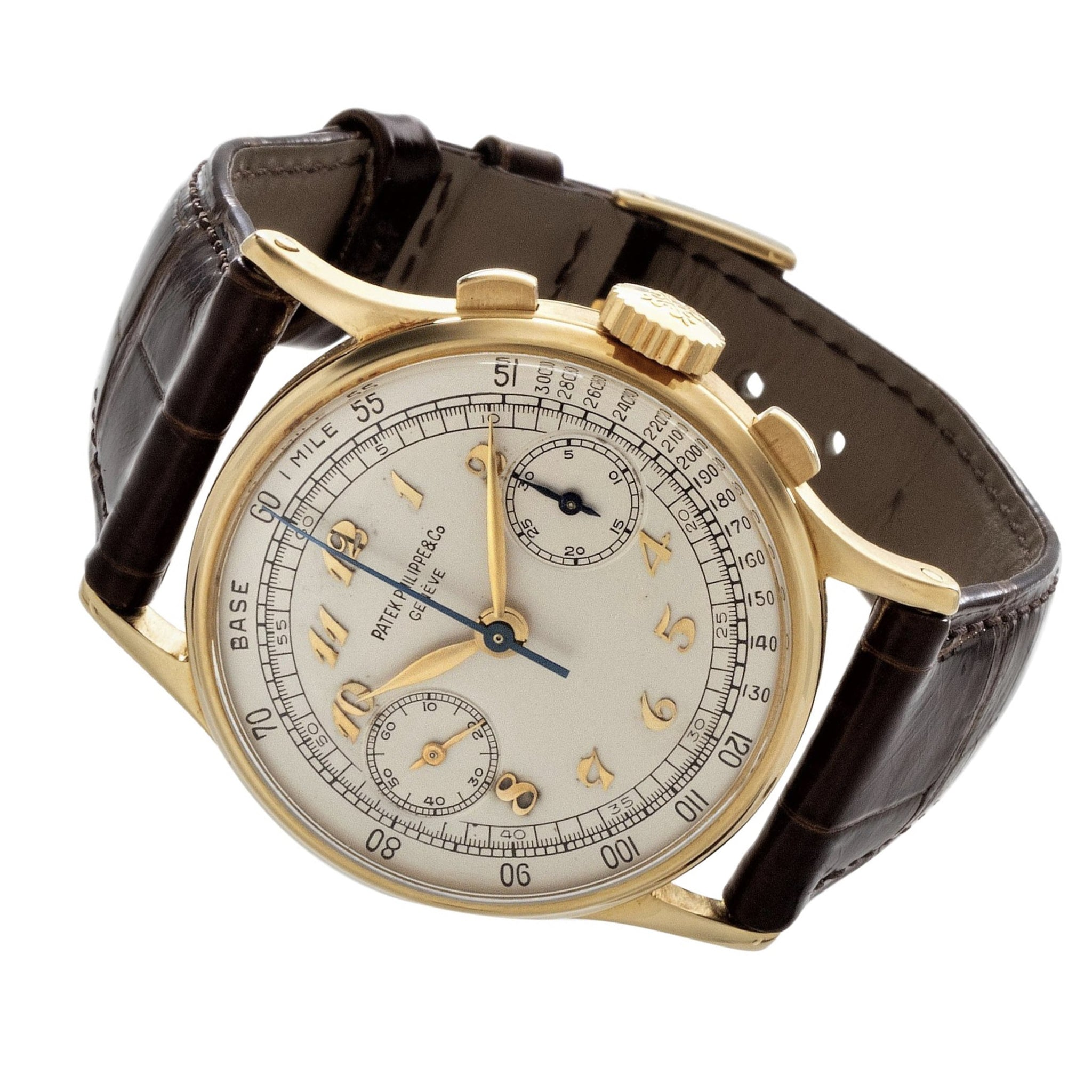 Patek Philippe 130J Chronograph Watch Circa 1944