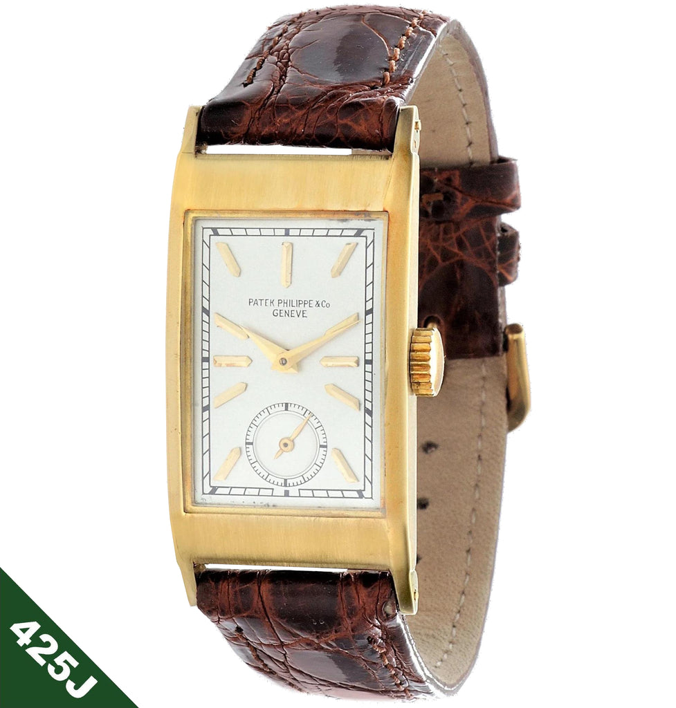 Patek Philippe 425J Tegolino Art Deco Watch circa 1940