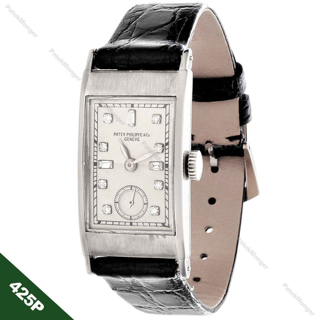 Patek Philippe 425P Tegolino Art Deco Watch circa 1937