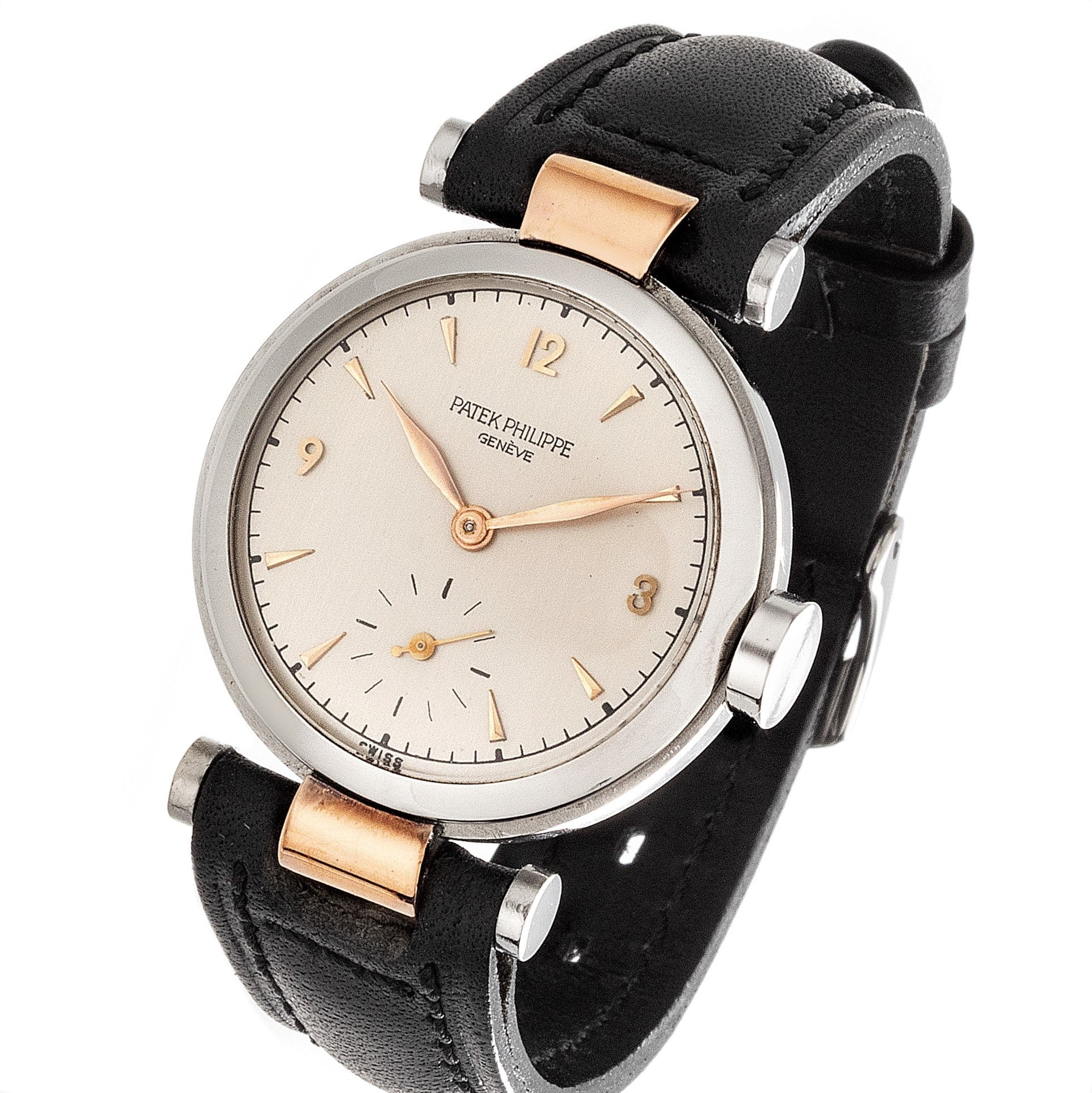 Patek Philippe 453AR Stainless Steel and Rose Gold Calatrava Watch