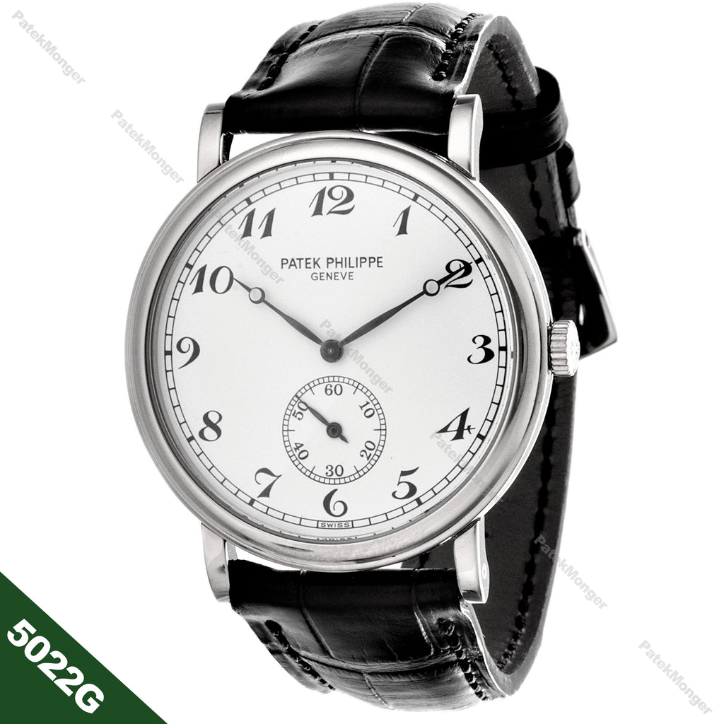 Patek Philippe 5022G Calatrava Officers Case Watch circa 2000