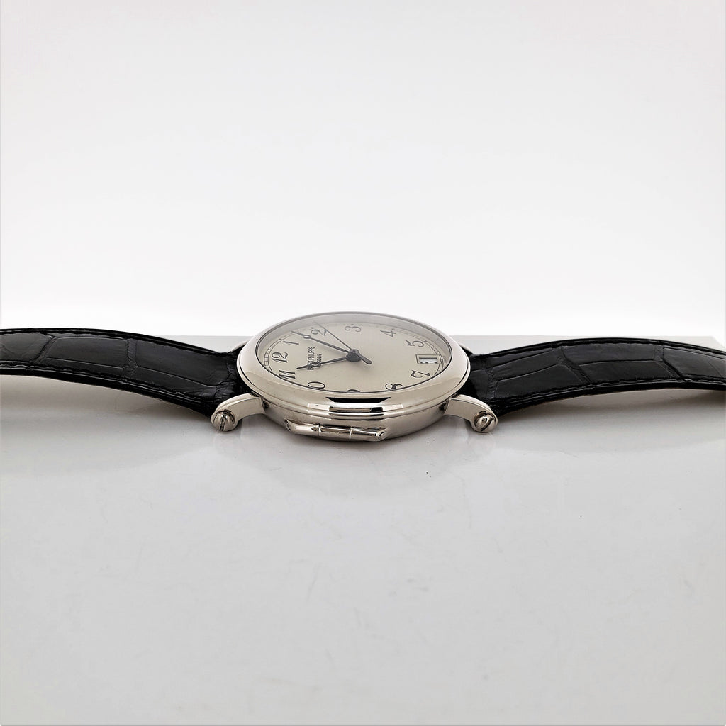 Patek Philippe 5053G Officers 36 mm hinge back  case Calatrava Circa 2001