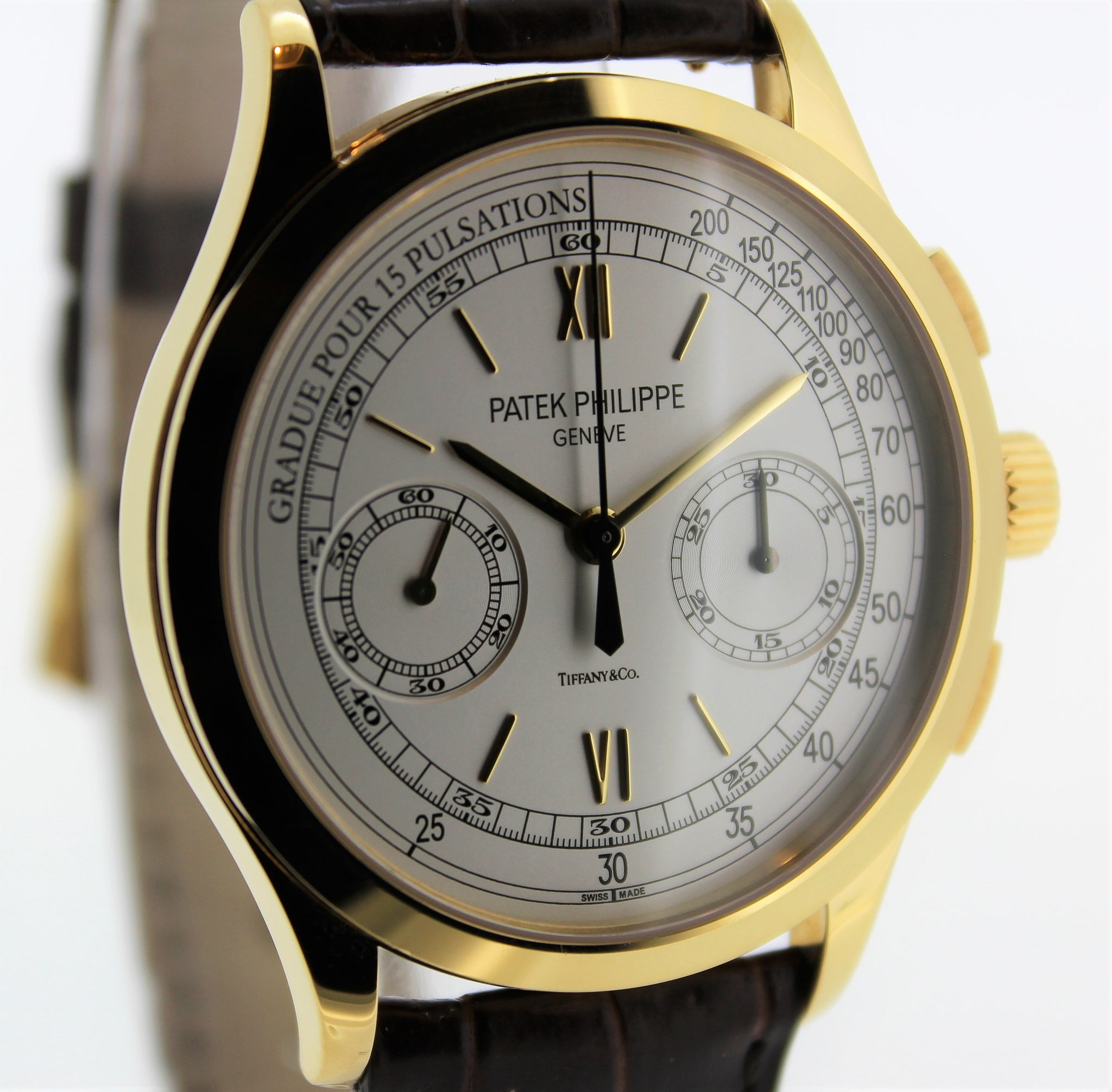 Patek Philippe 5170J-001 Chronograph Watch retailed by Tiffany 39mm NOS Discontinued