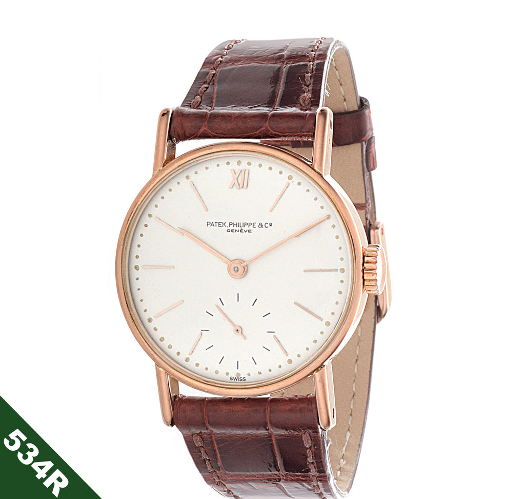 Patek Philippe 534R  Rose Gold Early Vintage Calatrava watch,  30.5 mm.  Circa 1941