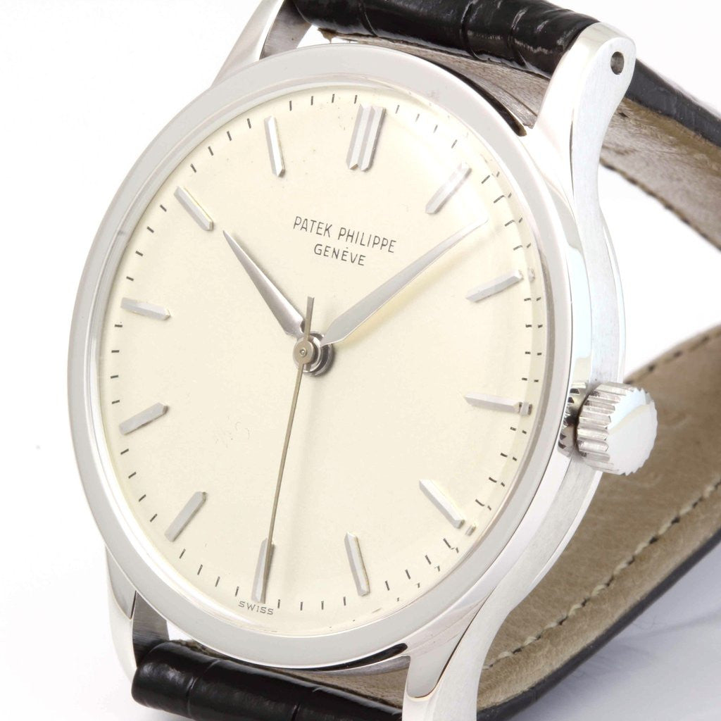 Patek Philippe 570G Calatrava 36 mm 18 Karat White Gold Watch,  Circa 1968