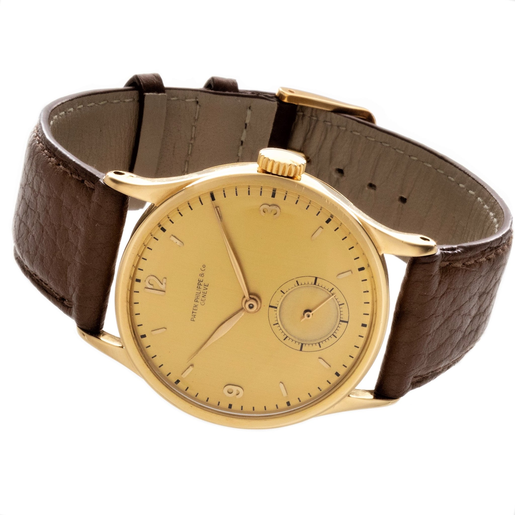 Patek Philippe 570J  Calatrava 36 mm 18 Karat Yellow Gold Watch,  Circa 1943