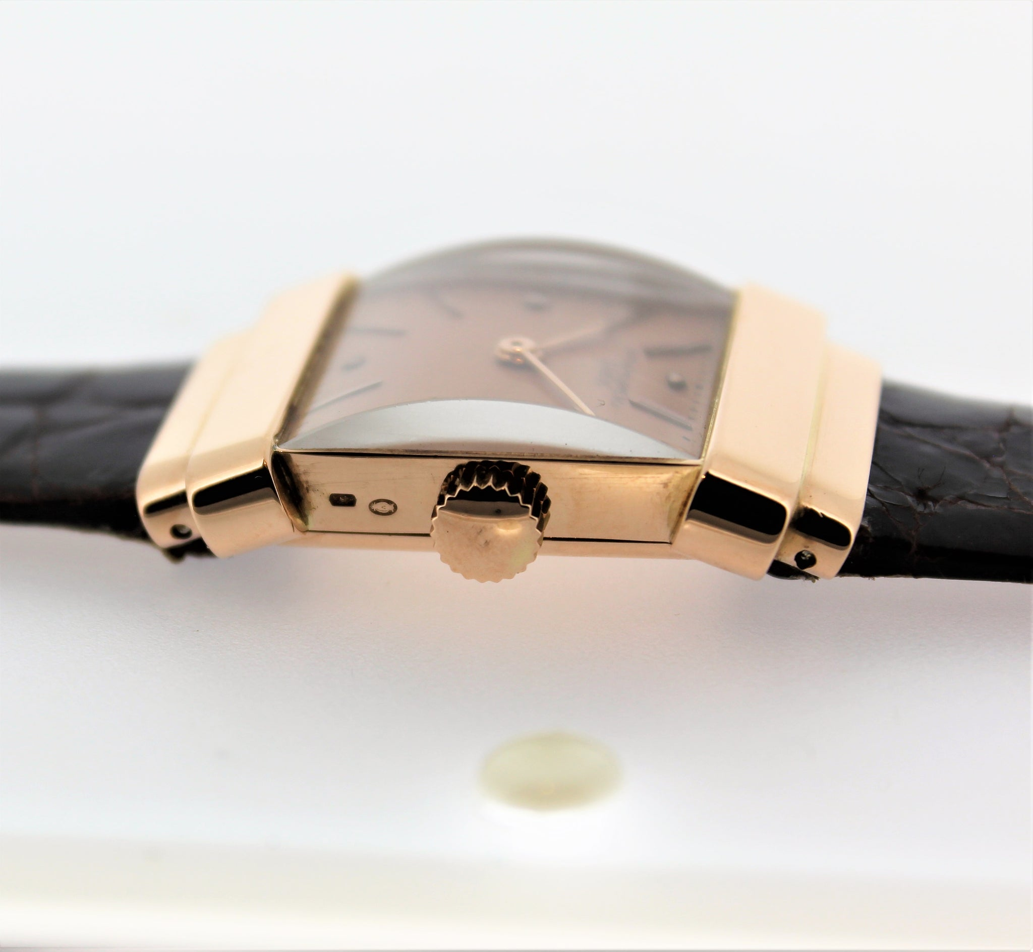 "Patek Philippe 574R ""TOP HAT"" Rectangular watch with hooded lugs, circa 1939."
