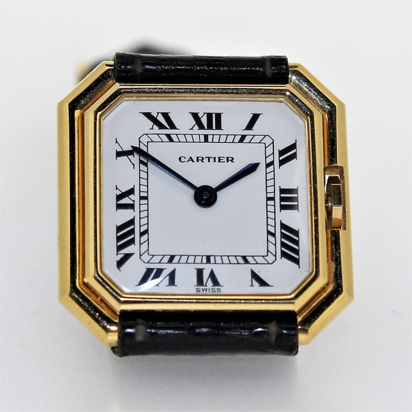 Vintage Cartier Paris Centure Medium wristwatch, Circa 1975-1980 18 Karat Gold