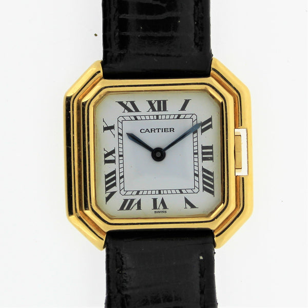 Vintage Cartier Paris Centure Small wristwatch, Circa 1975-1980 18 Karat Gold