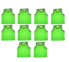 10 Team Scrimmage Vests Pinnies Soccer Available in Yellow Green & Blue
