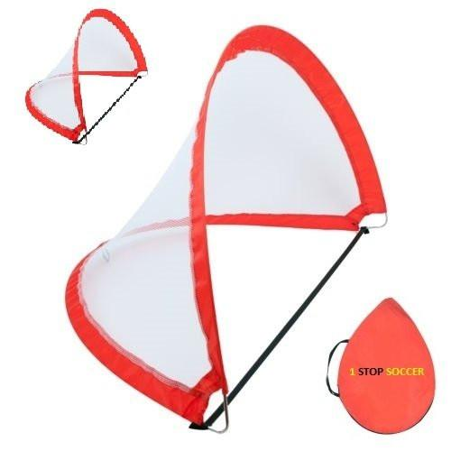 Set Portable Training Soccer Goal 2 Goals & Bag 4 Footer