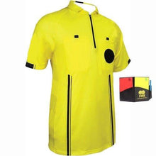 1 Stop Soccer New Men's Soccer Pro Referee Jersey Yellow Free Wallet