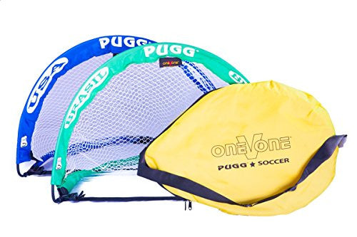 PUGG 2.5 Footer Goal USA Vs Brasil Soccer World Cup (2 Goals Bag Ball)
