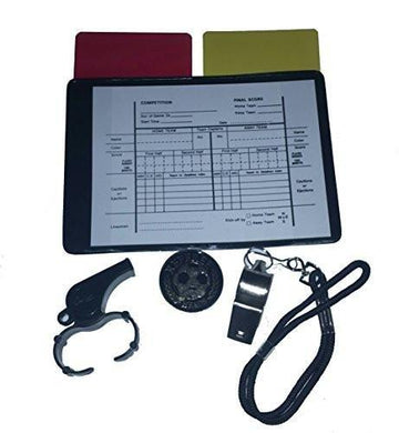 Referee Soccer Kit 1 Data Wallet 1 Toss Coin 2 Whistle 2 Cards Red Yellow