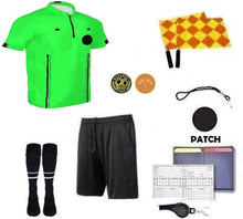 1 Stop Soccer Premium Referee 10 Piece Package Jersey Coin Short Socks Flags Set Whistle Referee Wallet and Cards Velcro