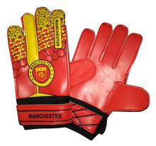 Manchester United Soccer Gloves with Finger Save Protection
