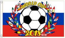 3 Soccer Flags World Cup 2018 Russia 5' x 3'