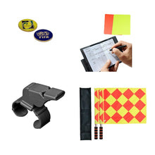 1 Stop Soccer Premier Referee Kit Coin flags whistle wallet cards pad