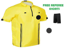 1 Stop Soccer Pro Referee Soccer Jersey Short Sleeves Free Referee Shorts