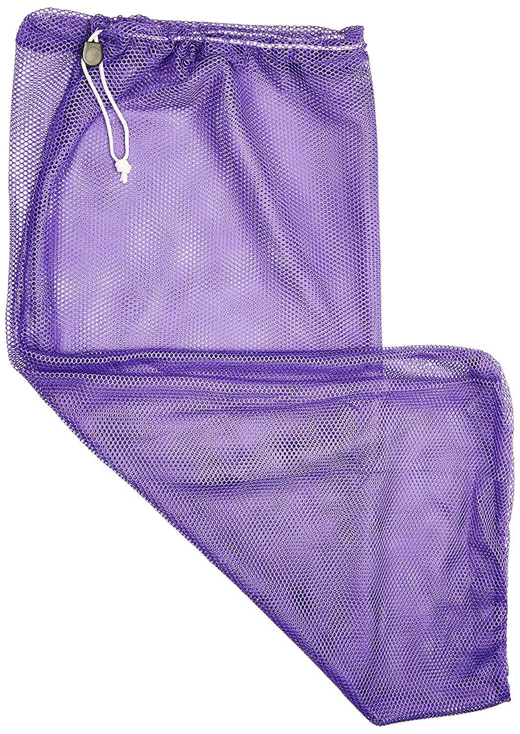 BSN Sports Heavy-Duty Mesh Equipment Bag, Purple