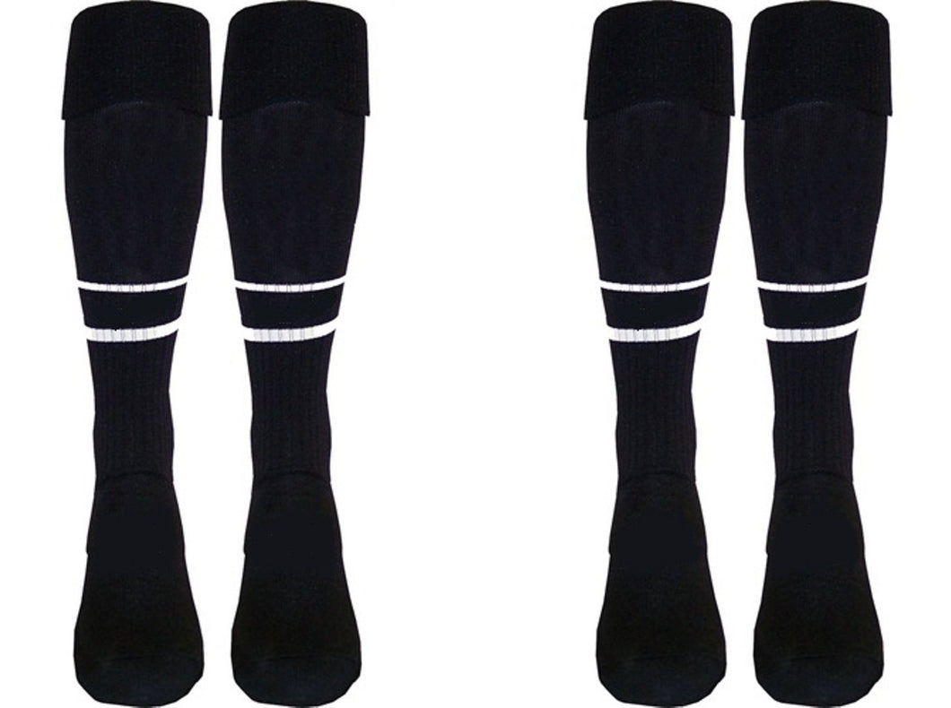 2 Pair New Style 2-Stripe Soccer Referee Socks