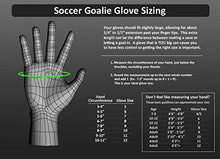 2016 Soccer Glove Guard with Finger Save Protection (Silver / Yellow 5)