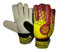 Barcelona Soccer Gloves with Finger Save Protection