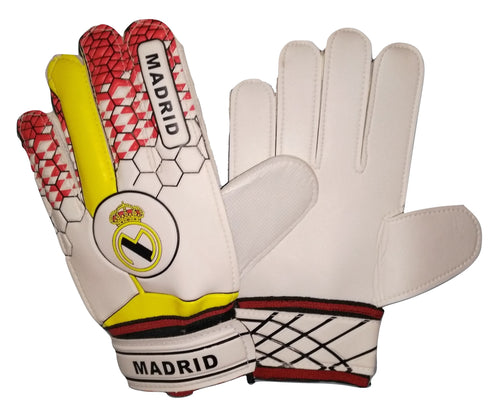Real Madrid Soccer Gloves with Finger Save Protection