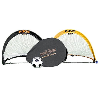 PUGG - 2.5 Foot Small Pop Up Soccer Goal Set - Portable Training Futsal Football Net - The Original Pickup Game Goal (Two Goals & Bag)